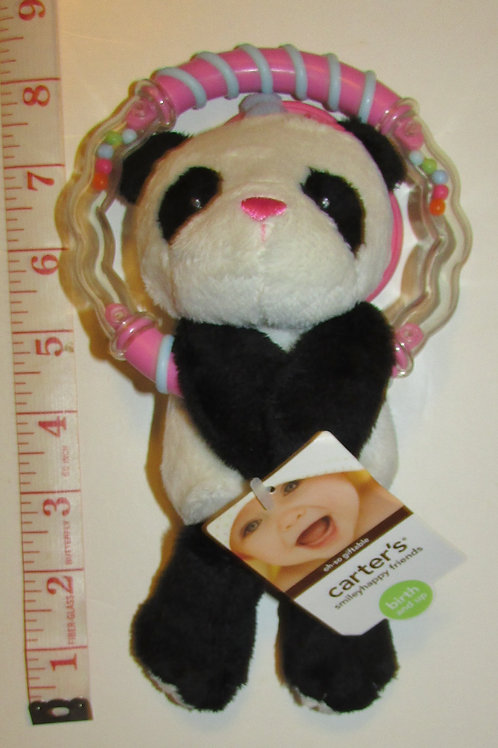 Carters plush panda with rattle