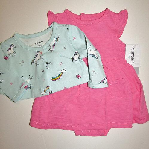 Carters pink/aqua unicorn size N
