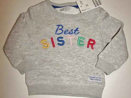 H & M sweatshirt gray size LN