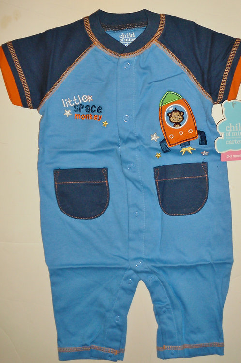 Child of Mine coverall blue/navy/ship 0-3 mos
