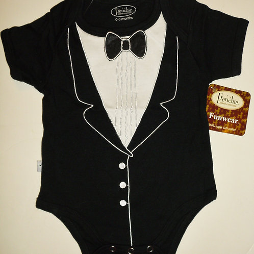 Frenchie tux style creeper 0-3 mos
