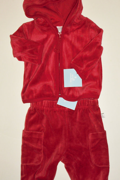 Small Wonders velour red size N