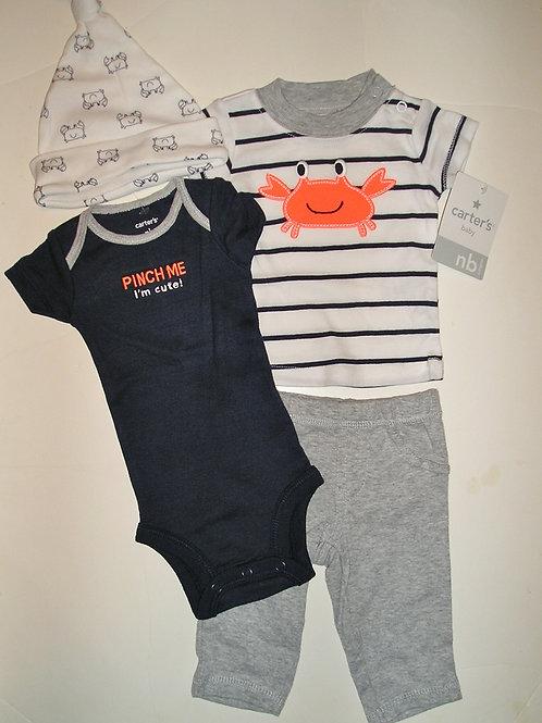 Carters 4 pc set navy/gray size Newborn