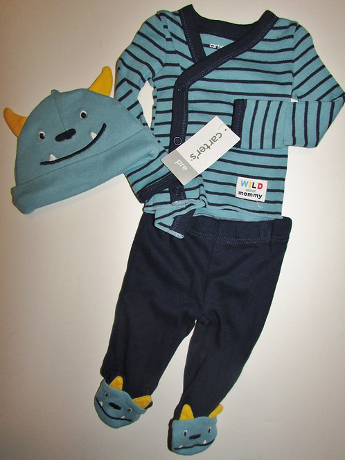 Carters 3 pc Monster set size P