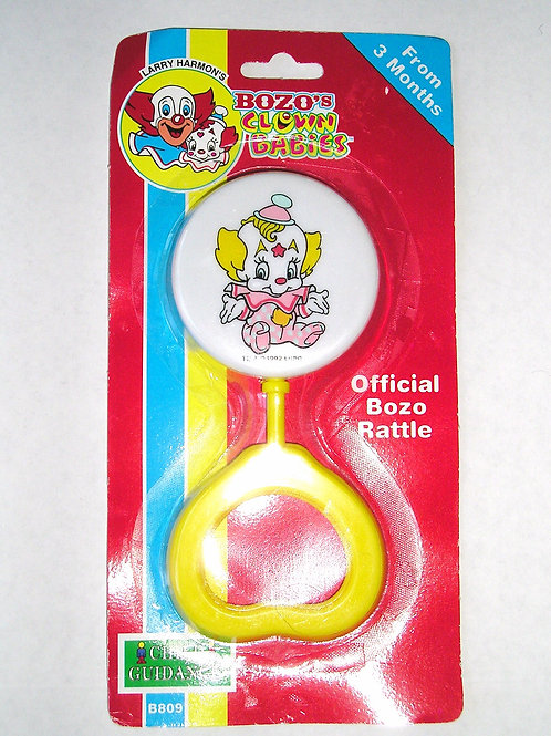 Baby Bozo vintage style rattle choose color