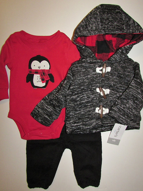 Carters red/gray/black size N