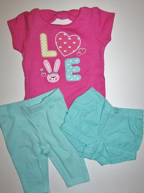 Garanimals 3 pc pink/green size N