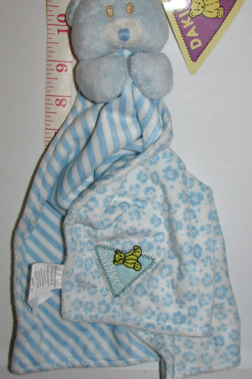 Dakin fleece security blanki blue/floral/bear