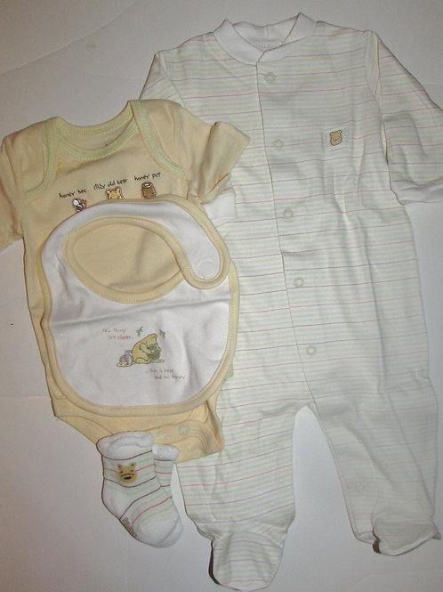 Disney Pooh yellow/white size LN