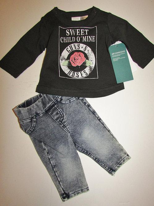 H&M set gray/denim Sweet Child of Mine size LP-SN