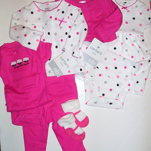 Carters white/pink set N
