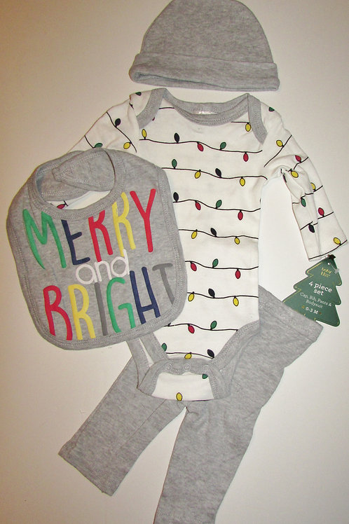 Baby Kiss 4 pc set Merry size 0-3 mos