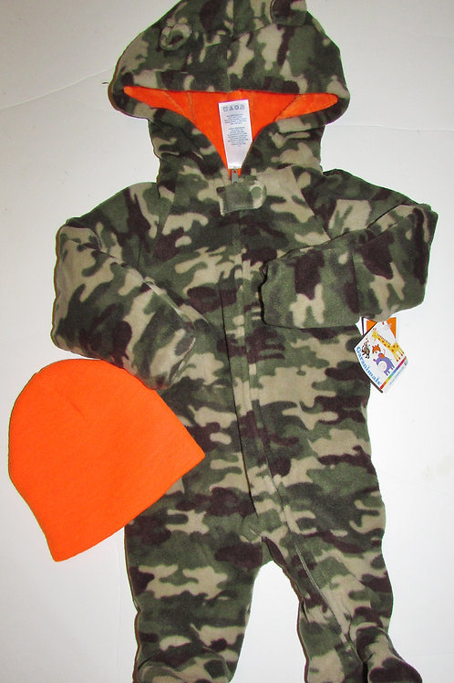 Garanimals suit/hat camo size 0-3 mo