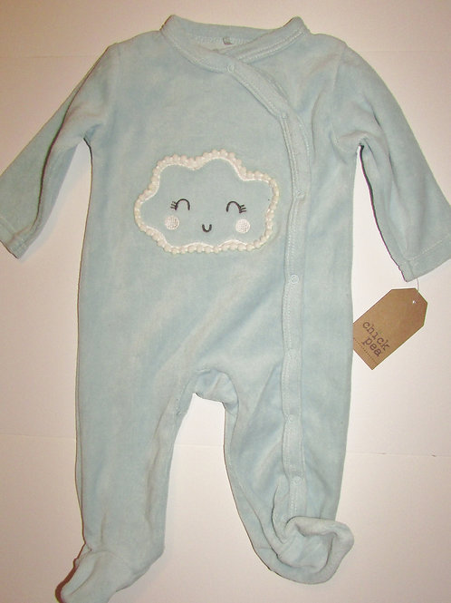 Chick Pea light blue cloud size 0-3 mos