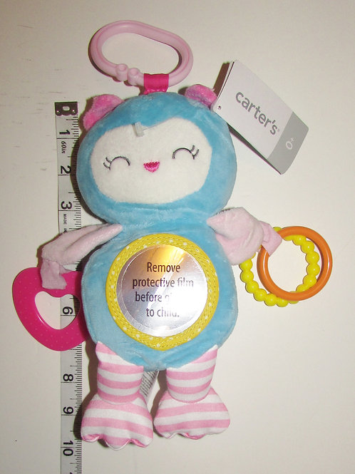 Carters plush activity Owl blue/pink 10 inches