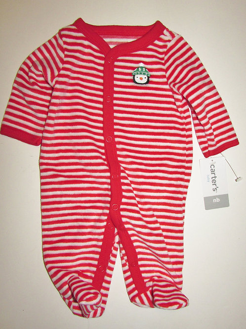 Carters red/stripe penguin size N