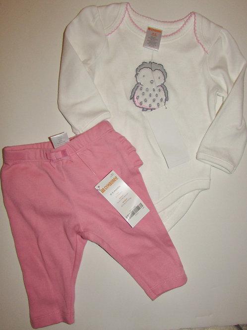 Gymboree white/pink size 0-3