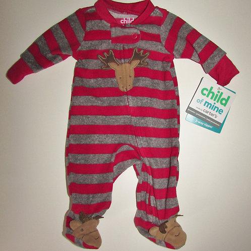 Child of Mine flc sleeper red/gray size P