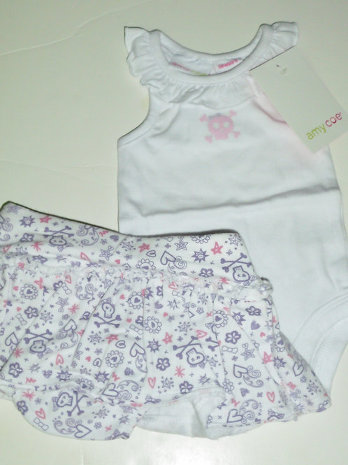 Amy Coe 2 pc set white/purple size N