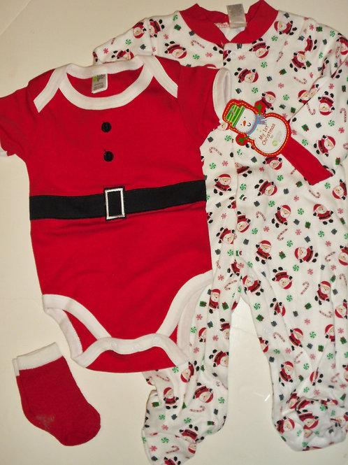 Baby Gear 3 pc set red/white/Santa choose size