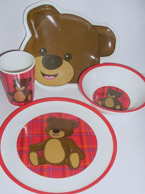 Greenbriar dinnerware 4 pc bear motif