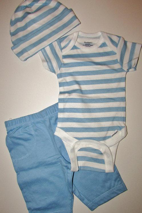Gerber 3 pc set blue/white size N