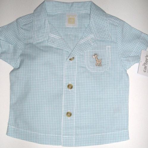 Carters shirt blue/gingham Newborn