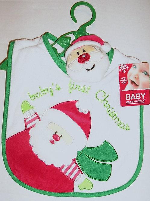Baby Essentials 2 pc bib set/Santa one size