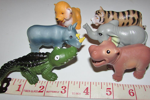 Greenbrier set of 6 zoo animals