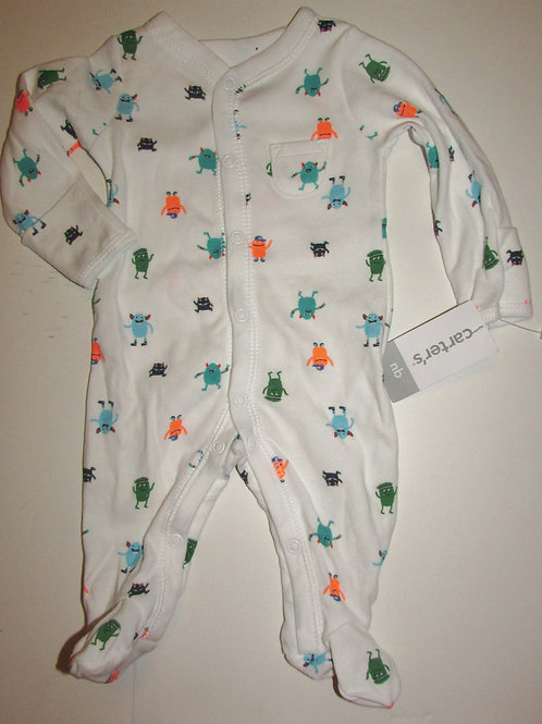 Carters white/monster size N