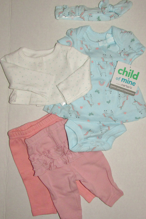 Child of Mine 5 pc set aqua/pink size P