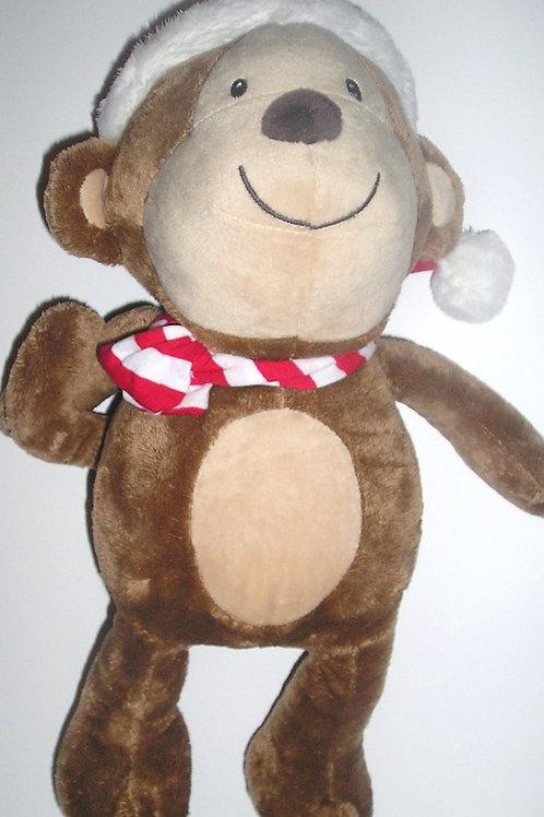 Carters plush monkey Xmas 15 inches