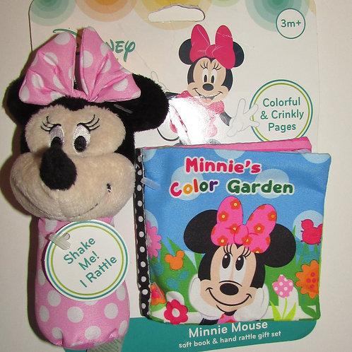 Disney Minnie rattle/crinkle book