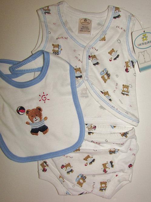 Day Dreamer 3 pc set white/blue bears size SN