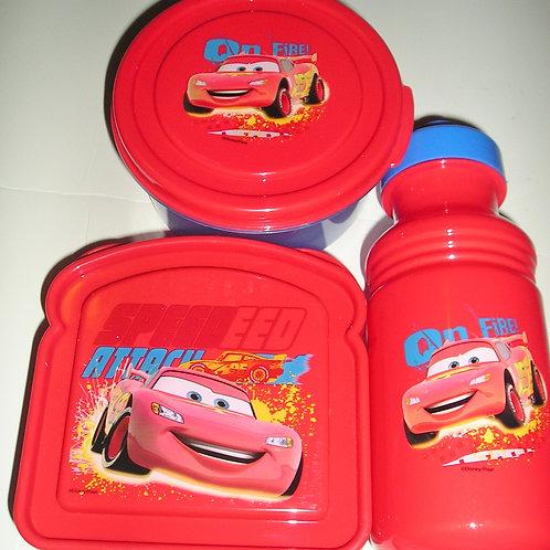 Disney 3 pc lunch set red/Cars motif