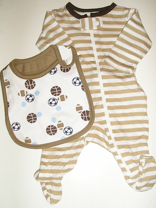 Child of Mine 2 pc set brown/white/sport Newborn