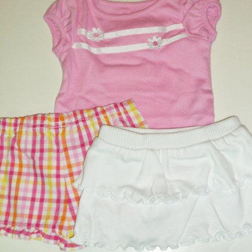 Garanimals 3 pc pink/stripes size N