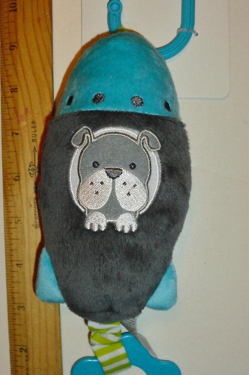 Carters plush rattle dog/rocket
