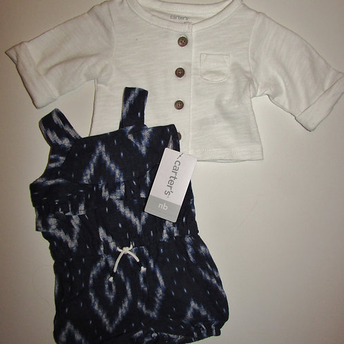 Carters white/navy size N