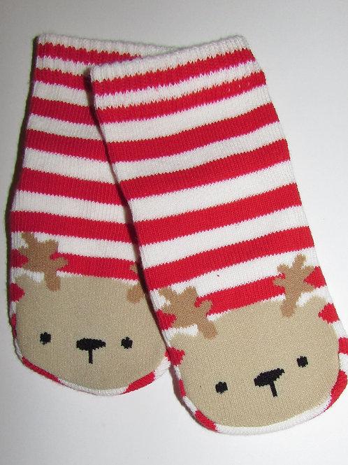 Gymboree socks red/white/deer size 0-6 mo