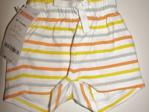 Gymboree shorts white/multi stripes size N