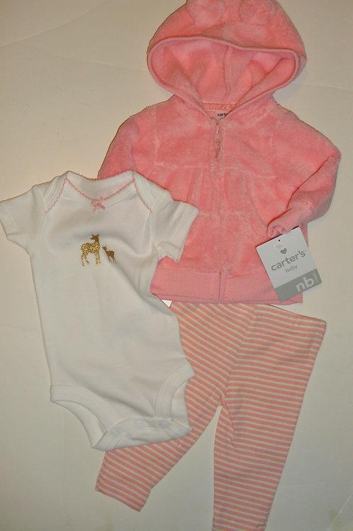 Carters peach/white size N