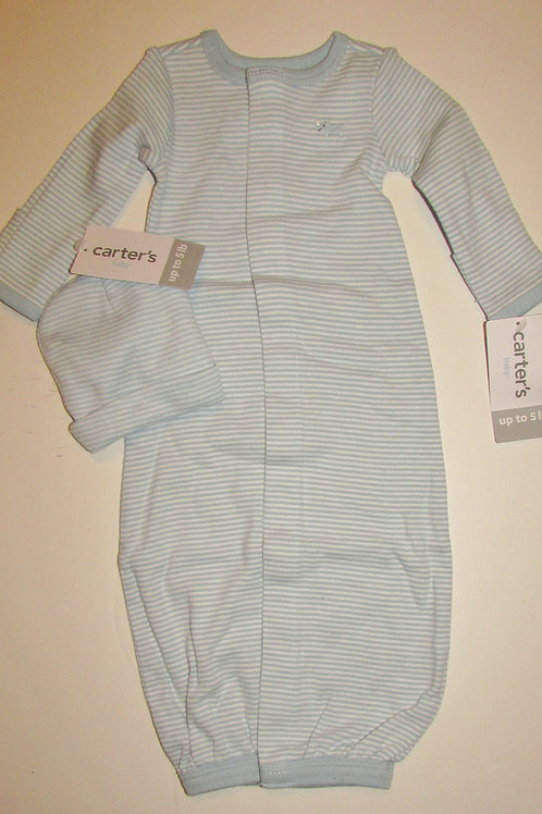 Carters blue gown size SP