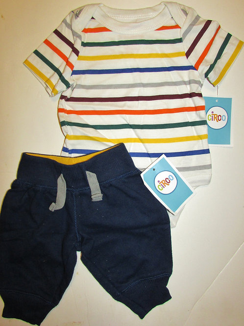 Circo 2 pc set stripes/navy size N