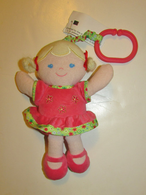 Carters plush rumble dolly pink/green/yellow hair
