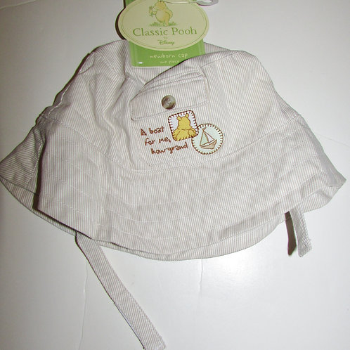 Disney Pooh  hat tan/white size LN
