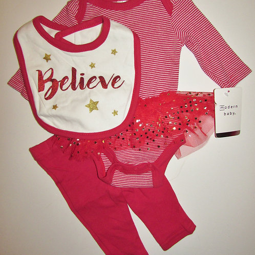 Modern Baby red/tutu size 0-3 mo