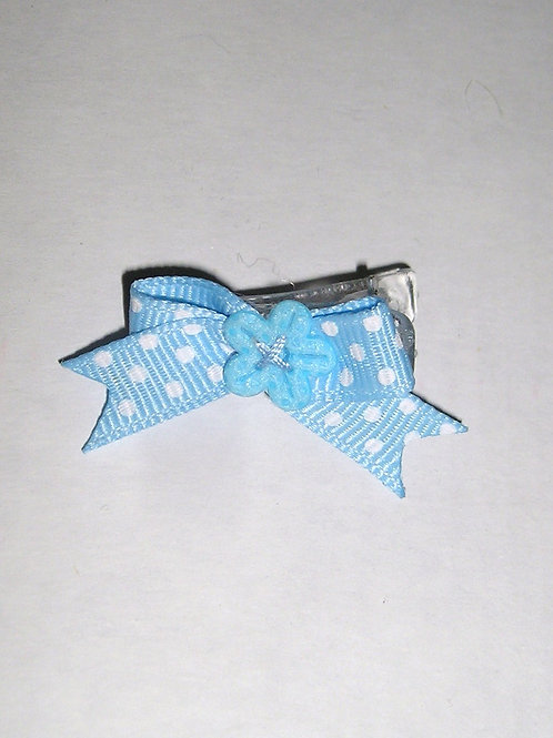Child of MIne barrette aqua w/wht dots size P-SN