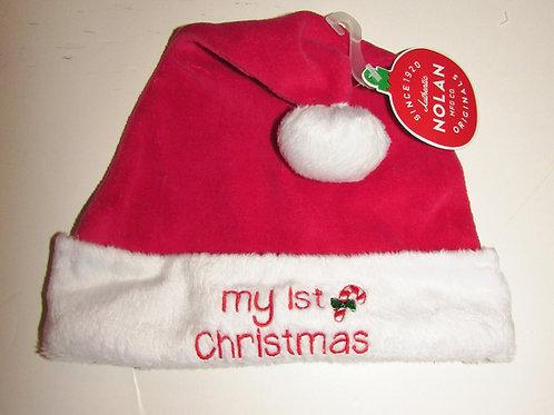 Nolan Originals fleece Santa Hat 1st Xmas motif infant