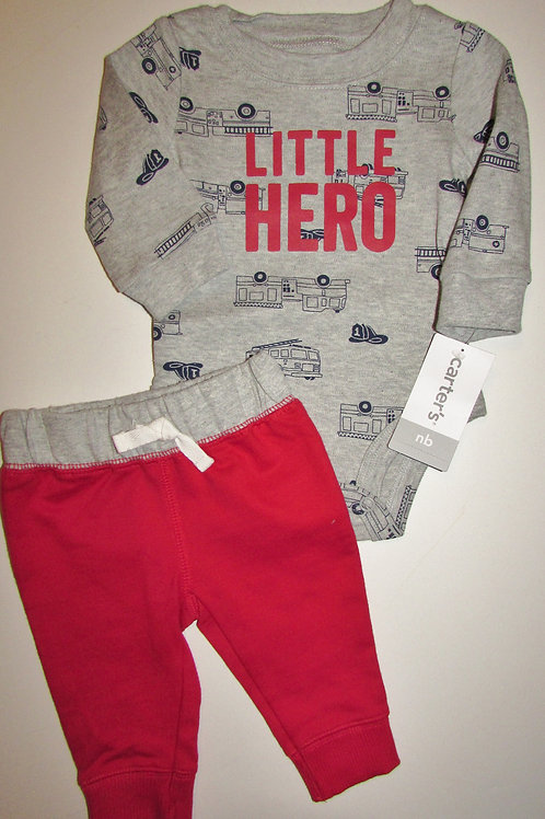 Carters gray/red/truck size N